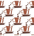 Coffee cups seamless pattern vector image vector image