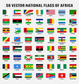 collection 56 national flags africa vector image