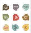 collection of paper sale stickers 2 vector image vector image