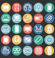 cool gadgets and electronic devices set on color vector image
