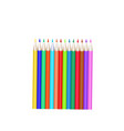 crayons - colored pencil set loosely arranged vector image
