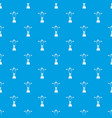 cristo redentor pattern seamless blue vector image vector image