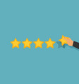 customer review concepts in flat style - male vector image vector image
