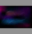 dark abstract futuristic hi-tech wavy background vector image vector image