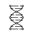 DNA icon Logo template of DNA DNA symbol sign vector image vector image