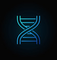 dna strand blue icon or symbol in thin line style vector image vector image