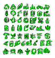 ecology icons sketch hand drawn vector image vector image