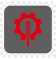 Engineering Rounded Square Button vector image vector image