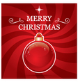Festive and elegant Christmas greeting card vector image