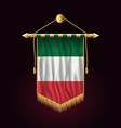 flag of italy festive vertical banner wall vector image