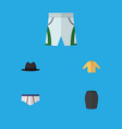 flat icon clothes set of trunks cloth vector image vector image