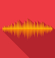 Flat long shadow music wave icon vector image