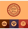 flat wine menu icons vector image