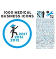 Gentleman Steps Years Icon with 1000 Medical vector image vector image