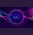 glowing abstract aurora modern background design vector image vector image