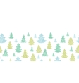 Green blue Christmas trees silhouettes textile vector image vector image