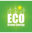 green energy with wind turbines vector image