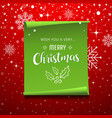 green roll paper with snowflake christmas vector image vector image