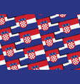 grunge croatia flag or banner vector image