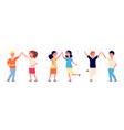 high five cheers children kids hello or boy vector image vector image