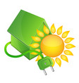 house bio and sun vector image vector image