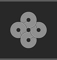 infinity logo endless geometric symmetrical vector image
