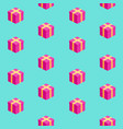 isometric gift boxes seamless pattern vector image