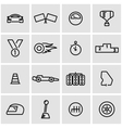 line racing icon set vector image vector image