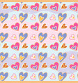 Love print decorative pattern with hand drawn