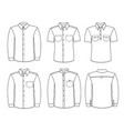 men shirts men fashion clothes isolated on white vector image vector image