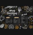 merry christmas festive winter menu vector image vector image