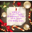 Merry Christmas greeting card EPS 10 vector image vector image