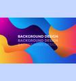 modern color gradient background design vector image vector image