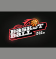 modern professional typography basketball sport vector image vector image