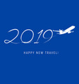 new year 2019 concept - flight vector image vector image