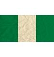 Nigeria paper flag vector image vector image