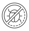 no data virus icon outline style vector image