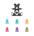 Of infant symbol on teddy icon
