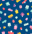 party presents colorful seamless pattern vector image