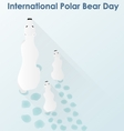 Polar White bear with cubs vector image vector image