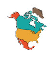 political map of north america vector image vector image