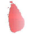 red dot sri lanka island map vector image vector image