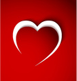 red heart made from paper vector image vector image