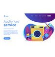 repair of household appliances concept landing vector image vector image