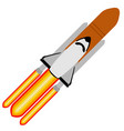 rocket taking off vector image