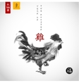 rooster symbol of the chinese new year 2017 vector image vector image