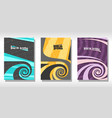 set colorful covers vector image