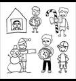 set diverse guys vector image vector image