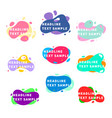 set nine bright trendy modern graphic liquid vector image vector image