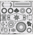 set of beautiful ornamental decoration vector image vector image